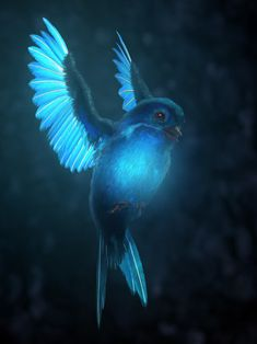 Journey to the Center of the Earth Glowing Bird