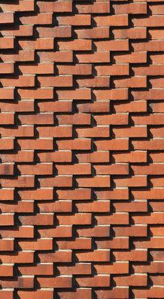 Ideas Wall Texture Art Exposed Brick For 2019 Brick Design, Facade Design, Exterior Design, Brick Cladding, Brick Facade, Brick In The Wall, Brick And Stone, Brick Texture, Texture Art