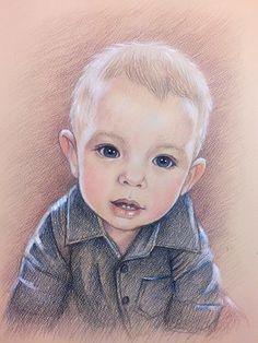 12x16 baby Portrait, gift, custom portrait, colored pencil portrait, drawing,  comission portrait, portrait from photo personalized portrait