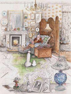 Reading.  Sue Macartney Snape