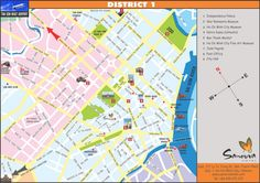 saigon district 1 tourist map walking routes - Google Search