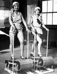 Vintage Gym Treadmill Exercise