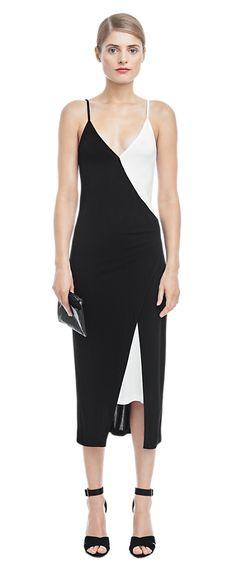 Two Tone Dress - Dresses - Woman - Filippa K, viscose Swedish Fashion, Dress Skirt, Spring, Jumpsuit, Minimalist, Midi Skirts, Style Inspiration, Zen, Fashion Design