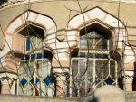 Exquisite Neo-Romanian style house windows, Bucharest