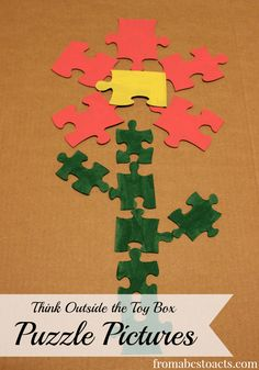 Puzzle Pictures - Think Outside the Toy Box - From ABCs to ACTs #ThinkOutsideTheToyBox