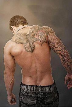 unique Tattoo Trends - 30 Masculine Upper Back Tattoo Designs For Men Badass Tattoos, Hot Tattoos, Dream Tattoos, Body Art Tattoos, Pretty Tattoos, Tatoos, Tattoo Life, Arm Tattoo, Sleeve Tattoos