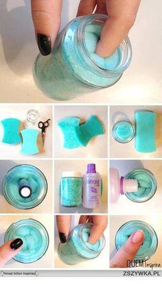 DIY nail polish remover pot