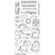 Die-namics Clear Stamps Magical Unicorns - Motivstempel...