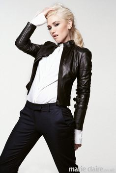 Gwen Stefani in black and white for Marie Claire UK  January 2013