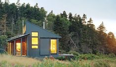 A project 30 years in the making, this tiny off grid retreat on a coastal Maine island is almost entirely self sufficient....