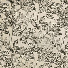 Floral Fabric, Black Fabric, Greenhouse Fabrics, Pattern Matching, Cushion Fabric, Leaf Prints, Black Print, Trees To Plant, Window Treatments