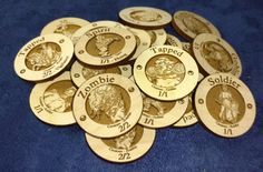 Wooden Creature Tokens for Magic the Gathering by CustomID4U