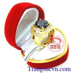 Nhẫn vàng nam sapphire