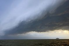 Outflow boundary approaching Duck, NC on June 13, 2013.