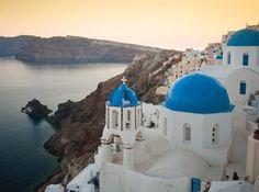I adore the island of Santorini.   The small Greek island is truly a fantastic place to vacation.