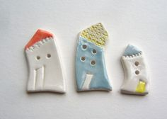 ceramic house buttons