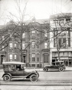 """Washington, D.C., circa 1920. """"Washington Herald, 1210 18th Street N.W."""" The business next door, its products having motored off into oblivion, is now a Pei Wei. National Photo Company Collection glass negative."""