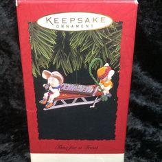Hallmark Keepsake Ornament Time for Treat Hersheys Chocolate Lovers Mice 1996