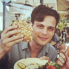 Matthew Gray Gubler....and Food
