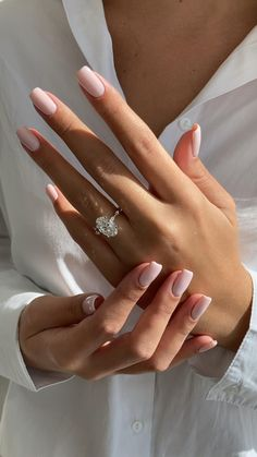 Classy Acrylic Nails, Classy Nails, Stylish Nails, Trendy Nails, Cute Nails, My Nails, Basic Nails, Simple Nails, Hard Gel Nails