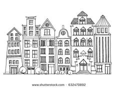 House Doodle Stock Images, Royalty-Free Images & Vectors ... Building Illustration, House Illustration, Doodle Drawings, Doodle Art, Zentangle, House Doodle, Doodle Images, Cute House, Christmas Drawing