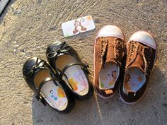 Teaching Left from Right......'Left' and 'Right' Peel and Stick cloth stickers for children's shoes