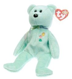 Ty Beanie Babies Ariel Glaser the Bear Retired NWT Commemorative #Ty