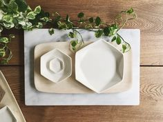 Hey, I found this really awesome Etsy listing at https://www.etsy.com/ca/listing/208579708/ready-to-ship-hexagon-dishes-variety