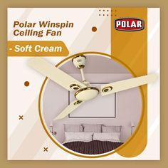 Polar Winspin Ceiling Fan, a decorative fan to match the decor of your interior. #Polar #Fan #CeilingFan #WinspinCeilingFan Fan Decoration, Ceiling Fan, Cream, Interior, Design, Creme Caramel, Ceiling Fans, Indoor, Interiors