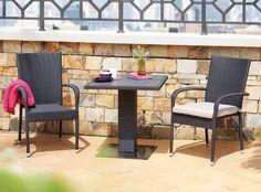 ALGHERO Table + 2 PALERMO Chairs | Patio Bistro Set