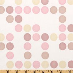 "Flannel Backed Vinyl Polka Dot Pink White from @fabricdotcom  This water repellent flannel backed vinyl fabric is great! Colors include rose, pink and cream on a white background. This is perfect for tablecloths and more!  California residents click  <a href=""http://prop65.fabric.com/"">here</a> for Proposition 65 information."