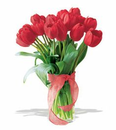 15 Red Tulip - Fresh and beautiful flowers express your feelings to your loved once. Pinay gifts offer you a colorful range of flowers and many more gifts.visit :http://pinaygifts.com