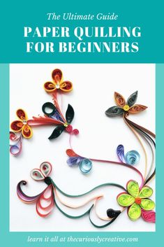 Paper quilling is the craft of rolling strips of paper and gluing them onto a surface to create an intricate three-dimensional piece of artwork. Neli Quilling, Diy Quilling Crafts, Quilling Videos, Paper Quilling For Beginners, Quilling Comb, Paper Quilling Tutorial, Paper Quilling Cards, Quilled Paper Art, Paper Quilling Designs