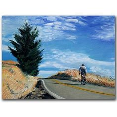 Trademark Art Biker Ascenting Canvas Art by Colleen Proppe, Size: 18 x 24, Multicolor