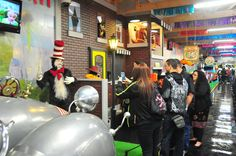 Our new kids' exhibit featuring The Cat in the Hat is now open at the Volo Auto Museum, Volo, IL.   www.volocars.com