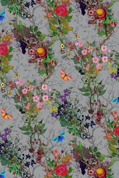 Timorous Beasties Wallcoverings - Bloomsbury Garden.  Nursery.