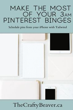 Did you know you can schedule pins for later from your iPhone? Learn how to use Tailwind to take adv Blog Topics, Pinterest For Business, Blogging For Beginners, Starting A Business, Pinterest Marketing, Social Media Tips, Online Business, Learning, Group Boards