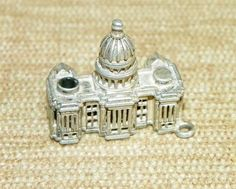 Vintage Sterling Silver Charm 3D US Capitol Stanhope Flag View by Berton 9P | eBay