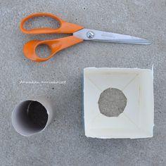 Annukan aurinkoiset: DIY betoninen lampunjalka - ohje Scissors, Tools, Instruments, Bicycle Kick, Appliance, Vehicles