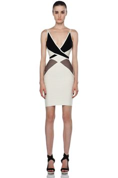 Herve Leger Color Block Bodycon Dress !!!