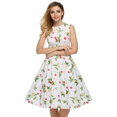 ACEVOG Brand S   4XL Women Dress Retro Vintage 1950s 60s Rockabilly Floral Swing Summer Dresses Elegant Bow knot Tunic Vestidos-in Dresses from Women's Clothing & Accessories on Aliexpress.com | Alibaba Group