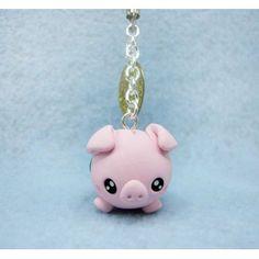 piggy bank,keychain, mobile accesories, fimo, handmade,llavero,colgante de movil,hecho a mano,polymer clay,cerdo,hucha,animal,dinero,money