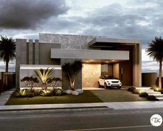 Bom dia pesssoal! Residência com volumetria marcante e muito cinza, porque é elegante e moderno  Por Arquitetura TK . ➖➖➖➖➖➖➖➖➖➖➖➖➖➖➖➖➖…