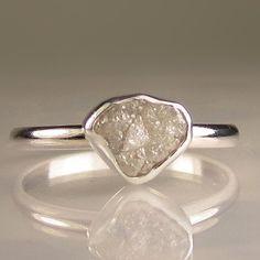 rough cut diamond ring