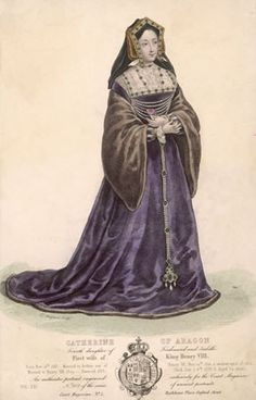 A colored drawing of Katherine of Aragon.