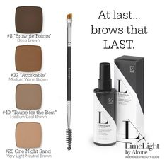 Brows that last! Products by LimeLight by Alcone Www.limelightbyalcone.com/kellymosluk