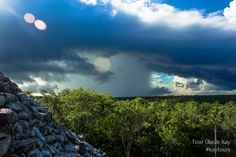 """""""There is no bad weather, only inappropriate clothing. View from main structure Nohoch Mul at Coba. Cancun Wedding, Destination Wedding, Swimming With Whale Sharks, Mayan Ruins, Tour Operator, Riviera Maya, Merida, Tour Guide, Tulum"""