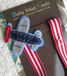 Baby Boy Pacifier Clip, Airplane Pacifier Clip, Baby Plane Pacifier Clip, Pacifier Holder, pcplane05 on Etsy, $9.25