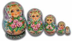 Beautiful Flowers - Matryoshka Nesting Dolls