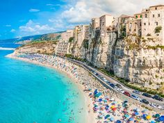 Marasusa Beach is located in the pretty town of Tropea, Italy